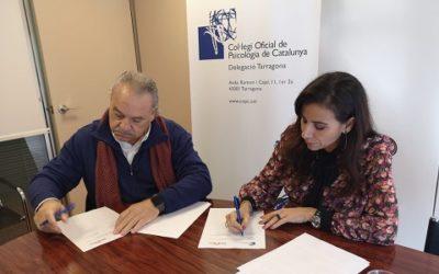 Mediterrània i la delegació de Tarragona del Col·legi Oficial de Psicòlegs signen un acord de col·laboració
