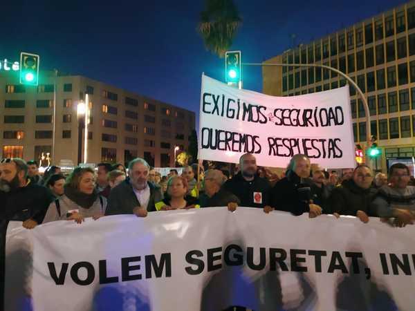Organizadores manifestación